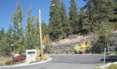 Lakeview Drive entrance to Zephyr Knolls (left) Heights (right)