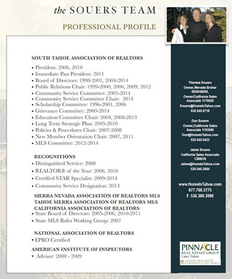 The Souers Team - Professional Profile & Resume