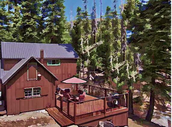 lake with vacation rental bay unforgettable cabin tahoe sweeping cabins views turnkey meeks ca