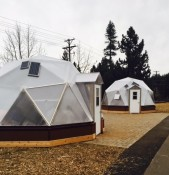 Sierra House Grow Domes are Up and Running.